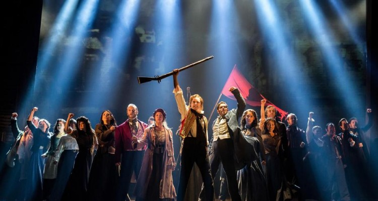 RETURN OF 'LES MIZ': Cast performs 'One Day More'. Photo: Matthew Murphy