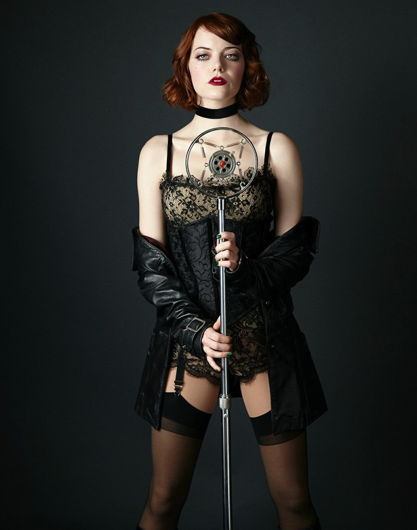 'PERFECTLY MARVELOUS': Emma Stone as Sally Bowles in 'Cabaret'. Photo: Richard Phibbs