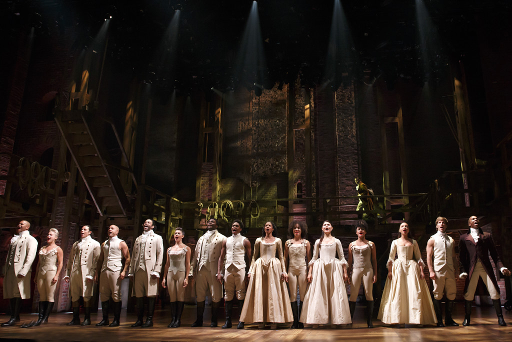 THE 'RENT' & 'BOOK OF MORMON' OF THE NEW MILLENNIUM TEENS:  The cast of the monster hit 'Hamilton.' Photo: Joan Marcus